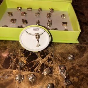 Chamilia sterling silver charm assortment 50+ pc